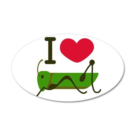 I Love Grasshopper Wall Decal