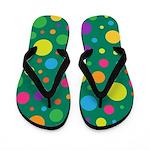 Polka Dots Rainbow Flip Flops