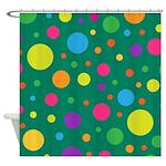 Polka Dots Rainbow Shower Curtain