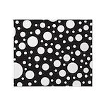 Polka Dot Black White Throw Blanket