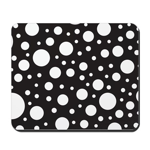 Polka Dot Black White Mousepad