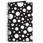 Polka Dot Black White Journal