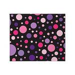 Polka dots pink purple Throw Blanket