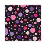 Polka dots pink purple Queen Duvet