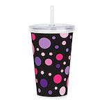 Polka Dot Pink Acrylic Double-wall Tumbler