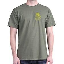 Masonic Design on Left Breast of a T-Shirt