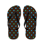 Polka Dots Blue Green Flip Flops