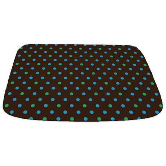 Polka Dots Blue Green Bathmat