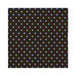 Polka Dots Blue Green Queen Duvet