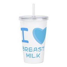 breast milk boy.png Acrylic Double-wall Tumbler