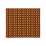 Polka Dots (Orange) Throw Blanket