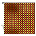 Polka Dots (Orange) Shower Curtain