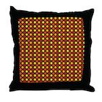 Polka Dots (Orange) Throw Pillow
