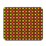 Polka Dots (Orange) Mousepad