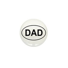 Father's Day European Dad Oval Mini Button (10 pac
