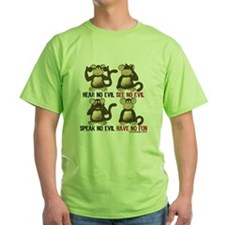 Hear No Evil Have No Fun Monkeys T-Shirt