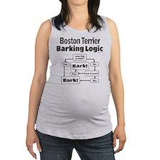 Boston Terrier Logic Maternity Tank Top