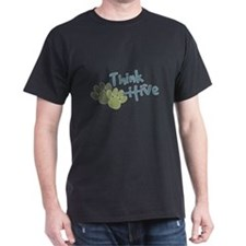 Think Pawsitive - blue green T-Shirt