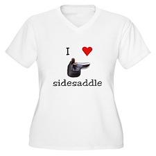 I Heart Sidesaddle Plus Size T-Shirt