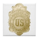 Bureau of Investigation Tile Coaster