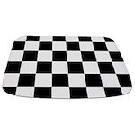 Checkerboard Black White Bathmat