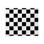 Checkerboard Black White Throw Blanket