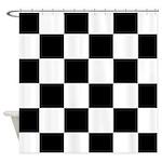Checkerboard Black White Shower Curtain