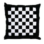 Checkerboard Black White Throw Pillow