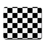 Checkerboard Black White Mousepad