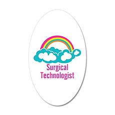 Cloud Rainbow Surgical Techn 35x21 Oval Wall Decal