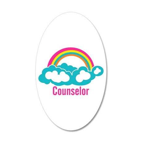 Cloud Rainbow Counselor 20x12 Oval Wall Decal