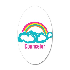 Cloud Rainbow Counselor 35x21 Oval Wall Decal