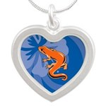 Newt Silver Heart Necklace