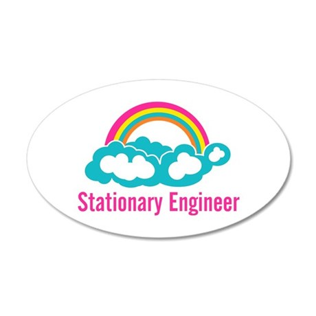 Stationary Engineer Cloud Ra 35x21 Oval Wall Decal