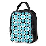 Geometric Checkerboard Neoprene Lunch Bag