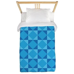 Geometric Blue Checkerboard Twin Duvet
