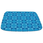 Geometric Blue Checkerboard Bathmat