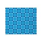 Geometric Blue Checkerboard Throw Blanket