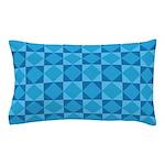 Geometric Blue Checkerboard Pillow Case
