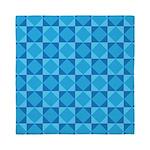 Geometric Blue Checkerboard Queen Duvet