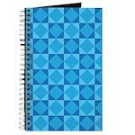Geometric Blue Checkerboard Journal