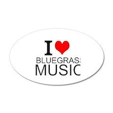 I Love Bluegrass Music Wall Decal