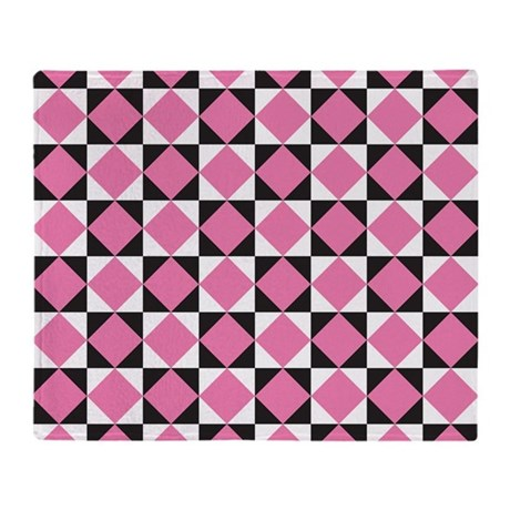 Diamond Black White Throw Blanket