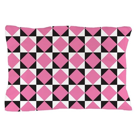 Diamond Black White Pillow Case