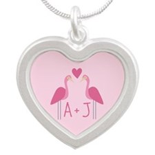 Unique Couples valentine Silver Heart Necklace