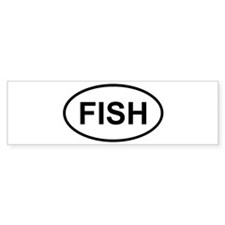 Funny Walleye fish Bumper Sticker
