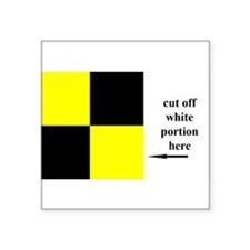 "Sailing flag Square Sticker 3"" x 3"""