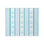 Anchor Nautical Turquoise Throw Blanket