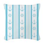 Anchor Nautical Turquoise Woven Throw Pillow