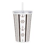 Anchor Nautical Tan Acrylic Double-wall Tumbler